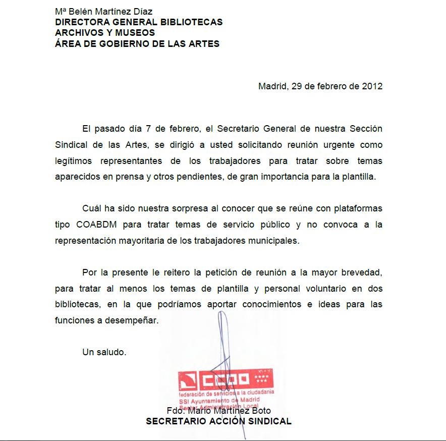 Bibliotecas publicas municipales de Madrid | Plataforma para la ...