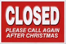 Cerrado por Navidad