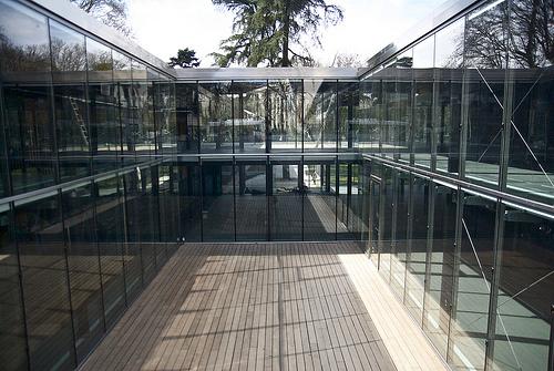 El patio de la nueva biblioteca – G. Bravo