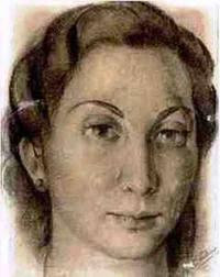 María Brey Mariño. Retrato de la biblioteca de Azaña