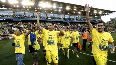 El Villareal celebrando su ascenso a Primera DIvisión.