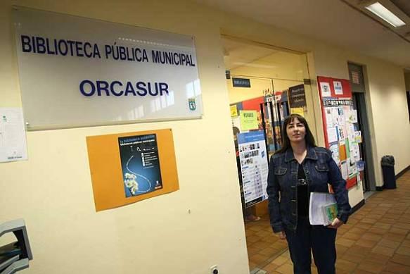 Biblioteca de Orcasur que Ángel dirigió -y luchó por su ampliación-durante muchos años. Foto: JORGE PARÍS. 20 Minutos.