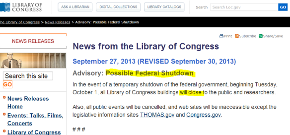 Cierre Biblioteca del Congreso