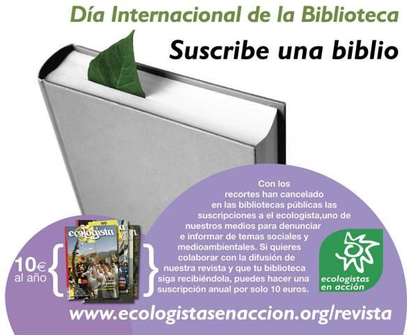 Ecologistas y bibliotecas