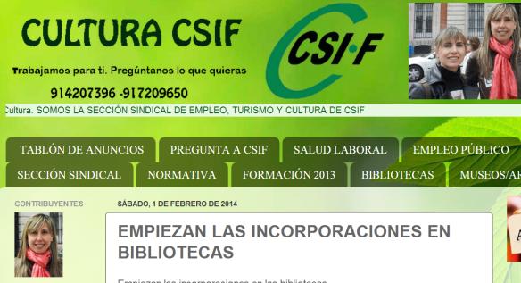 CSIF bibliotecas