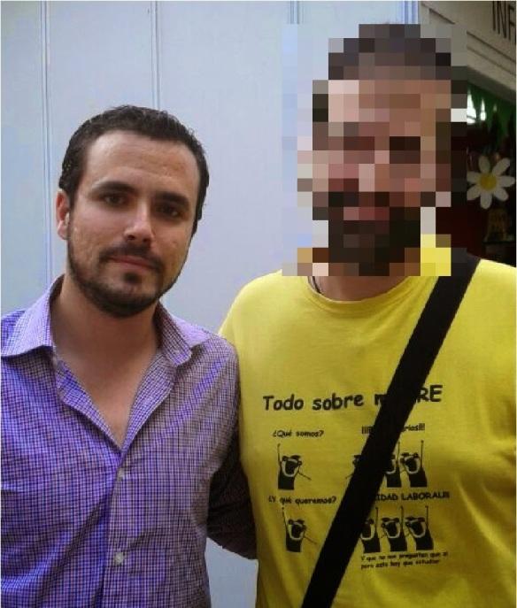 Con Alberto Garzón, diputado de IU.