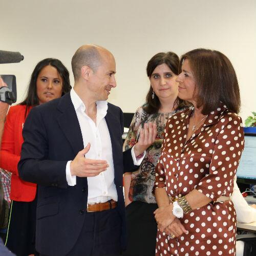a alcaldesa de Madrid, Ana Botella, con Jenaro García, consejero delegado de la fraudulenta Gowex