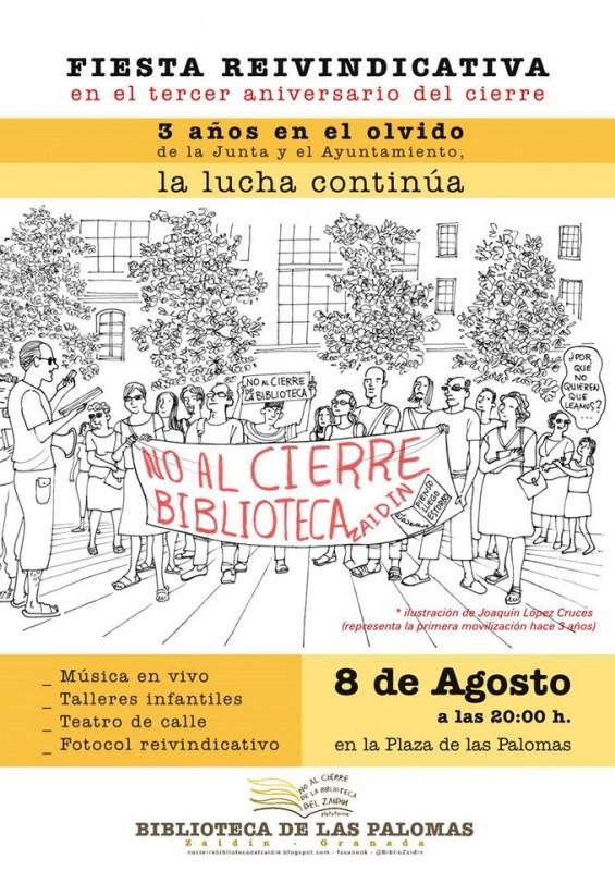 Cartel con ilustración de Joaquín López Cruces. Fuente: Granadaimedia.com