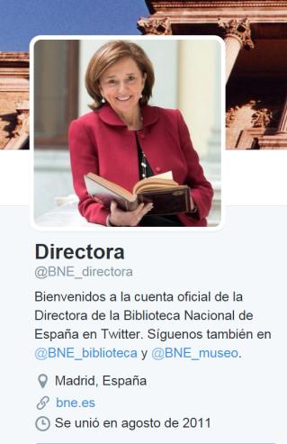 En su twitter, Ana Santos, no hace ninguna referencia a esta convocatoria.