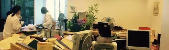 Despacho de la Biblioteca Histórica municipal donde se han tratado los ejemplares afectados. (Autor: MDO)